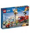 لگو مدل آتش سوزی در برگر بار سری سیتی (60214)